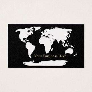 Or de carte du monde/carte de visite noir 1