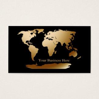 Or de carte du monde/carte de visite noir 3