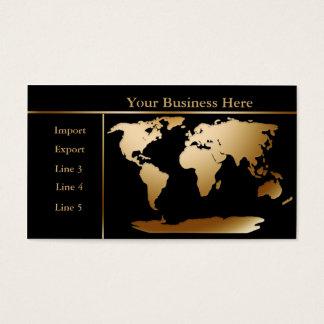 Or de carte du monde/carte de visite noir 4