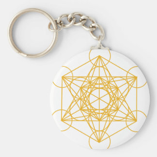 Or de cube en Metatron Porte-clé Rond