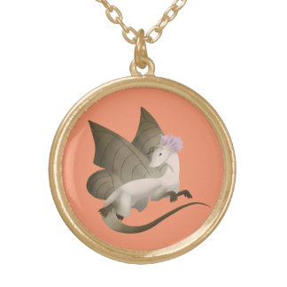 Or de dragon de papillon et collier 2 d'argent