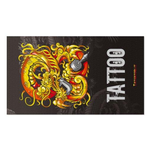 Or de dragon de Tattooer Modèle De Carte De Visite