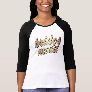 Or de la chemise des femmes de demoiselle t-shirt
