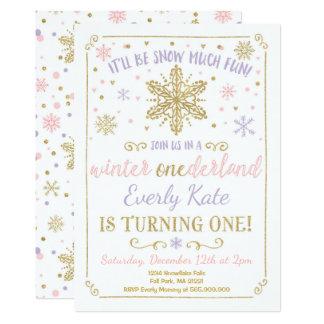Or de lilas d'invitation d'anniversaire carton d'invitation  12,7 cm x 17,78 cm