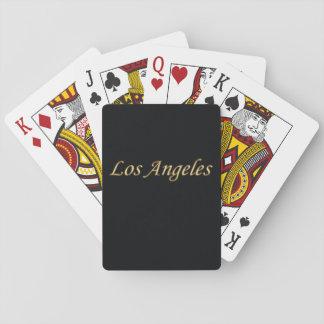Or de Los Angeles - sur le noir Cartes À Jouer
