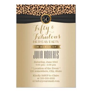 Or de luxe 50 fabuleux de ruban de noir carton d'invitation  12,7 cm x 17,78 cm