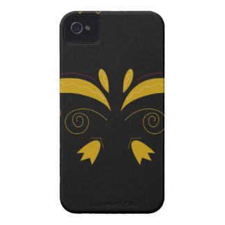 Or de luxe de Zazzle avec les ornements noirs Coque iPhone 4 Case-Mate