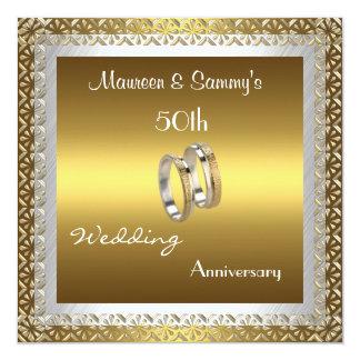 Or de mariage d'anniversaire d'invitation