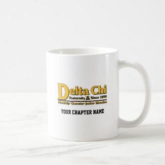 Or de nom et de logo de Chi de delta Mug