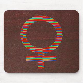 Or de NOVINO Brown symboles cadeau artistique À Tapis De Souris