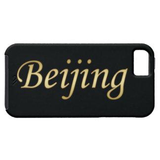 Or de Pékin - l'anglais - sur le noir Coque Case-Mate iPhone 5