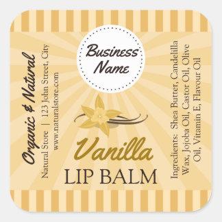 Or de vanille - étiquette de baume à lèvres -