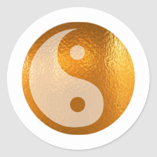 OR DE YIN YANG STICKER ROND