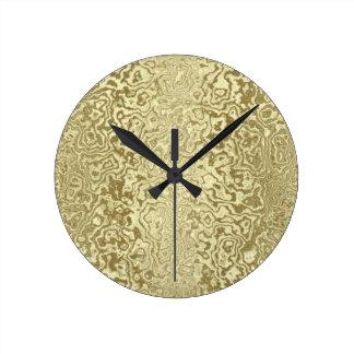 Or décoratif horloge ronde