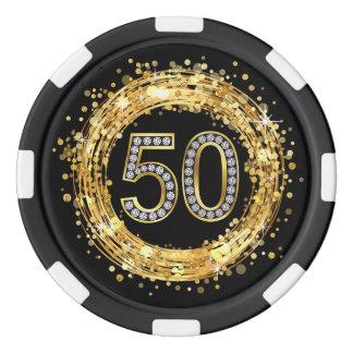Or des confettis | de Bling de scintillement du Rouleau De Jetons De Poker