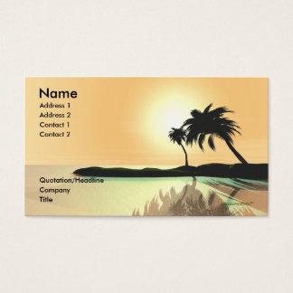 Or d'île - taille d'affaires cartes de visite