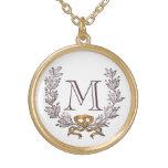 Or d'initiale de monogramme personnalisé par guirl bijouterie