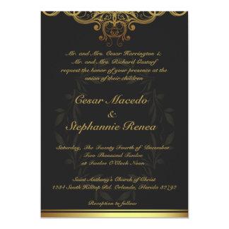 or du faire-part de mariage 5 x 7 et damassé noire