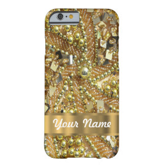 Or élégant bling coque iPhone 6 barely there