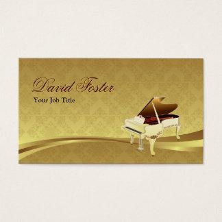 Or élégant de damassé d'instrument de musique de cartes de visite