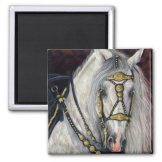Or espagnol - cheval andalou magnet carré