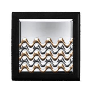 or et argent petite boîte à bijoux carrée