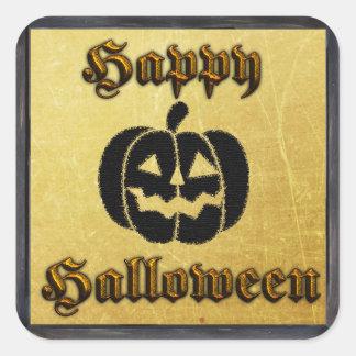 Or et autocollants noirs de Halloween de