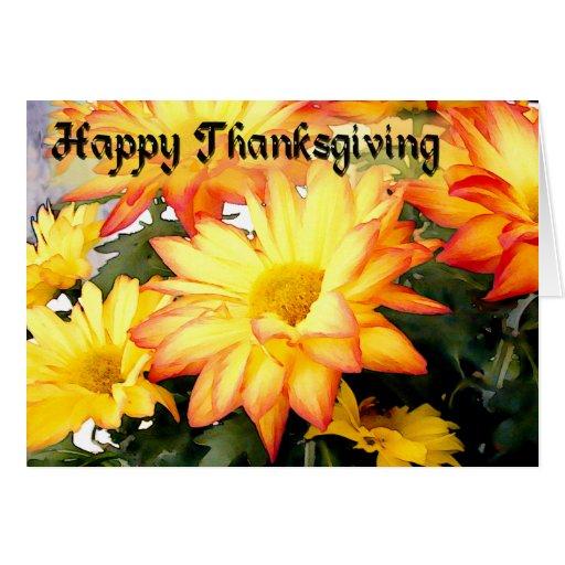 Or et bon thanksgiving rouge de mamans cartes de vœux