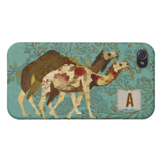 Or et coque iphone rose de chameaux étui iPhone 4