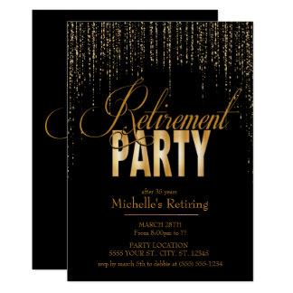 Or et invitations noires de partie de retraite
