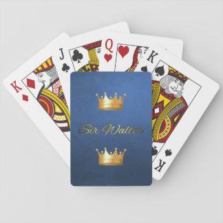 Or et monogramme noir sur les cartes de jeu de cartes à jouer