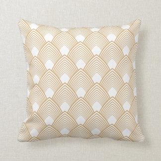 Or et motif blanc d'art déco oreillers