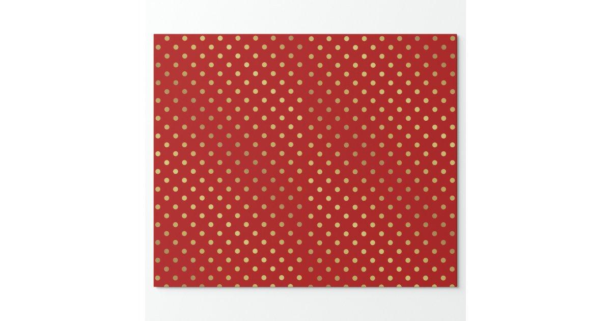 or et motif de pois rouge papier cadeau no l zazzle. Black Bedroom Furniture Sets. Home Design Ideas