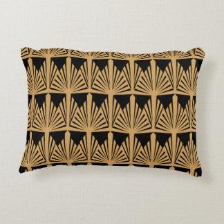 Or et motif noir d'art déco coussins décoratifs