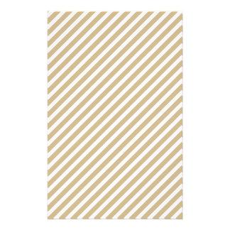 Or et rayures diagonales blanches de sucre de prospectus 14 cm x 21,6 cm