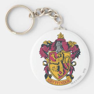 Or et rouge de crête de Harry Potter | Gryffindor Porte-clé Rond