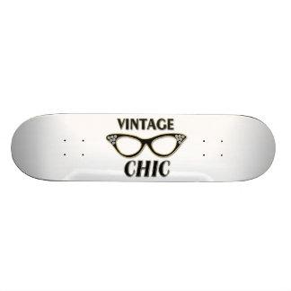 Or et verres Bling chic vintage de noir rétros Skateboards Personnalisables