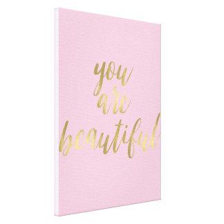 Or fascinant et rose vous êtes beaux toiles