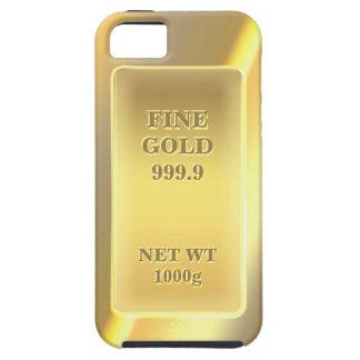 Or fin brillant 999,9 avec le texte étuis iPhone 5