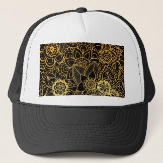 Or floral G523 de griffonnage de casquette