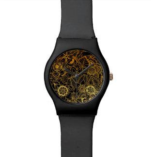 Or floral G523 de griffonnage de montre