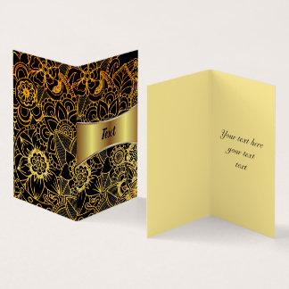Or floral plié G523 de griffonnage de carte