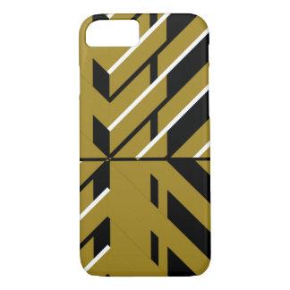 Or géométrique et noir coque iPhone 7