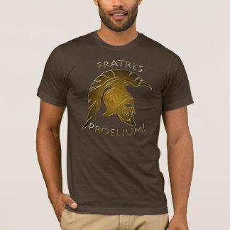 Or grec Trojan de bronze de guerrier de bataille T-shirt