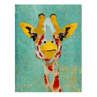 Or jetant un coup d'oeil la carte postale de giraf