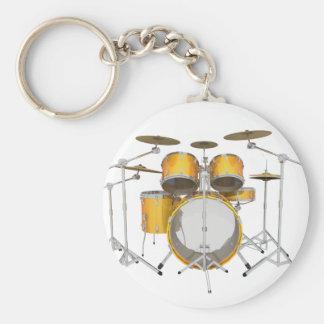 Or/kit jaune de tambour : porte-clef