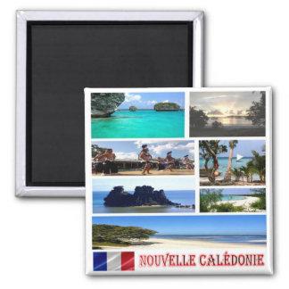 OR - La Nouvelle-Calédonie - collage de mosaïque Magnet Carré