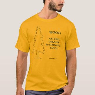 Or local de forêts et T-shirt en bois local de