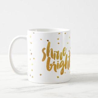 Or lumineux de Faux d'éclat marqué avec des Mug