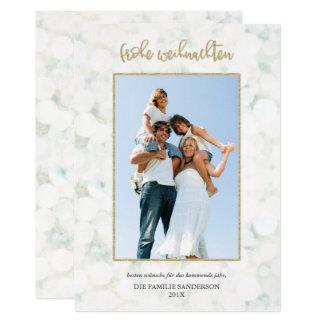 Or Moderne d'und de Frohe Weihnachten-Foto-Karte Carton D'invitation 12,7 Cm X 17,78 Cm